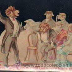 Coleccionismo Cromos troquelados antiguos: CROMO TROQUELADO FRANCÉS,JE PROCLAME QUE LA BOULE DE RÉGLISSE DE LA MARQUE M.E EST LE PERMIER,11X8CM. Lote 30731111