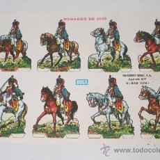 Coleccionismo Cromos troquelados antiguos: CROMO HUSARES DE 1820. AÑOS 40. EDICIONES BOGA. Lote 32263845