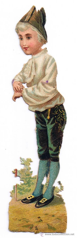 Coleccionismo Cromos troquelados antiguos: DOS CROMO TROQUELADO - PAREJA JÓVENES - MIDE 118 x 3 CMS - FOTO ADICIONAL - CHOCOLATE COLONIAL - Foto 5 - 35983838