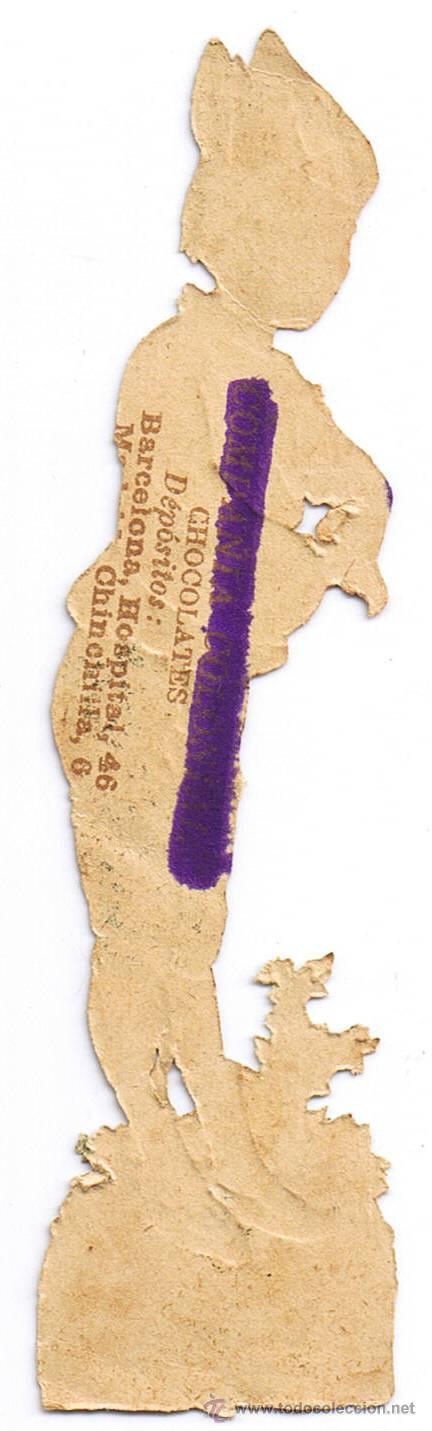 Coleccionismo Cromos troquelados antiguos: DOS CROMO TROQUELADO - PAREJA JÓVENES - MIDE 118 x 3 CMS - FOTO ADICIONAL - CHOCOLATE COLONIAL - Foto 6 - 35983838