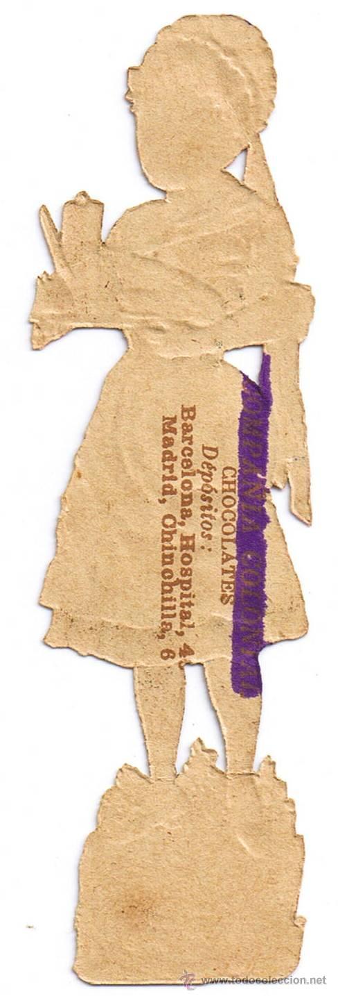 Coleccionismo Cromos troquelados antiguos: DOS CROMO TROQUELADO - PAREJA JÓVENES - MIDE 118 x 3 CMS - FOTO ADICIONAL - CHOCOLATE COLONIAL - Foto 4 - 35983838