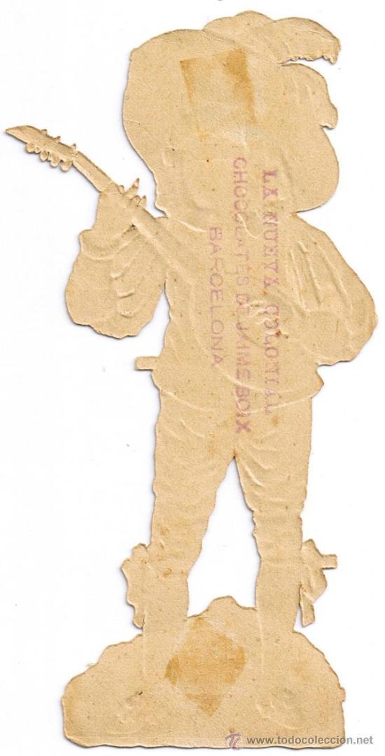 Coleccionismo Cromos troquelados antiguos: CROMO TROQUELADO - JOVEN MÚSICO - MIDE 14 X 7 CMS - FOTO ADICIONAL - JAIME BOIX - Foto 2 - 35331795