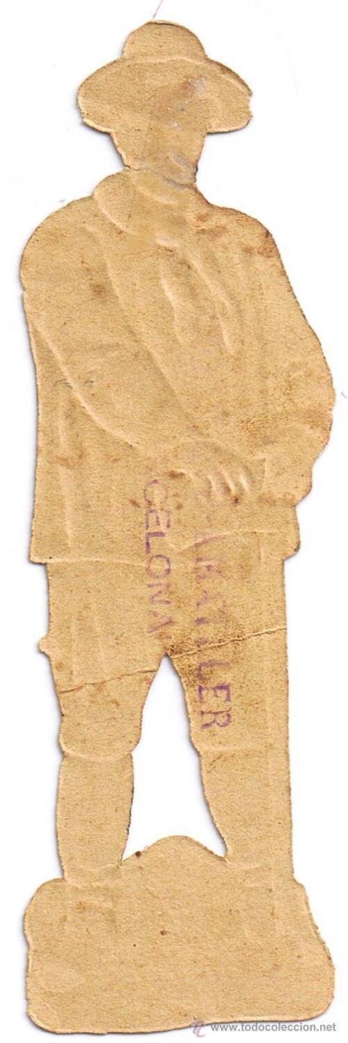 Coleccionismo Cromos troquelados antiguos: CROMO TROQUELADO - LEÑADOR- MIDE 12 X 4 CMS - FOTO ADICIONAL - AMATLLER - Foto 2 - 35331275