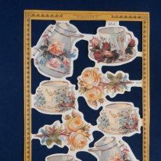 Collectionnisme Cartes à collectionner massicotées anciennes: LAMINA CROMOS TROQUELADOS MLP- A167.JUEGO DE TE. RELIEVE.. Lote 268818979