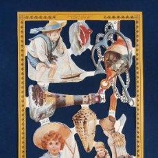 Coleccionismo Cromos troquelados antiguos: LAMINA CROMOS TROQUELADOS MLP- A164. MARINEROS. RELIEVE.. Lote 288105158