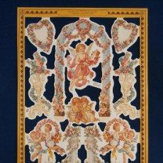 Coleccionismo Cromos troquelados antiguos: LAMINA CROMOS TROQUELADOS MLP- A166. ANGELES Y GURNALDAS. RELIEVE.. Lote 143096614
