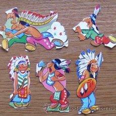 Coleccionismo Cromos troquelados antiguos: LOTE CROMOS TROQUELADOS INDIOS. Lote 36609503