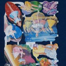 Coleccionismo Cromos troquelados antiguos: LAMINA CROMOS TROQUELADOS MLP- 1720. PURPURINA.BAILARINAS.DIFICIL ENCONTRAR. BRILLO.. Lote 288105323
