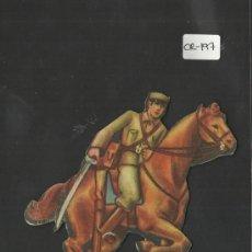 Coleccionismo Cromos troquelados antiguos: CROMO TROQUELADO GUERRA CIVIL ALMACENES ALEMANES - SOLDADO -EJERCITO POPULAR - ( CR-197). Lote 36681952