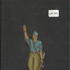 Coleccionismo Cromos troquelados antiguos: CROMO TROQUELADO GUERRA CIVIL ALMACENES ALEMANES - FALANGISTA -EJERCITO NACIONAL - ( CR-202). Lote 36682055