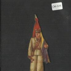 Coleccionismo Cromos troquelados antiguos: CROMO TROQUELADO GUERRA CIVIL ALMACENES ALEMANES - CAPITAN ABANDERADO -EJERCITO POPULAR - ( CR-214). Lote 36682548