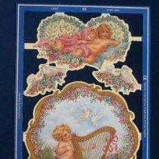 Coleccionismo Cromos troquelados antiguos: LAMINA CROMOS TROQUELADOS MLP- C5037. ANGELITOS. SERENDIPITY. BRILLO.. Lote 143096245