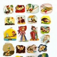 Coleccionismo Cromos troquelados antiguos: CROMOS PEQUEÑOS DE LOS AÑOS ´50 - (LOTE X 21 UNID. TROQUELADAS). Lote 36930171