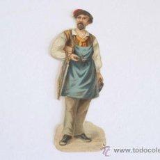 Coleccionismo Cromos troquelados antiguos: CROMO TROQUELADO, PRINCIPIOS SIGLO XX. CARPINTERO.. Lote 38226290