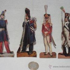 Coleccionismo Cromos troquelados antiguos: 4 CROMOS ARMADA. PUBLICIDAD CIGARROS FAVORITA. TABACO CANARIAS. EUFEMIANO FUENTE. PRIMER TERCIO 1900. Lote 39826753
