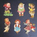 Coleccionismo Cromos troquelados antiguos: COLECCIÓN DE 6 CROMOS TROQUELADOS.NIÑOS JUGANDO. FINALES SXIX.. Lote 40985712