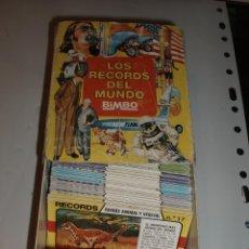 Coleccionismo Cromos troquelados antiguos: LOS RECORDS DEL MUNDO BIMBO CASI COMPLETA 147 FICHAS CON CAJA ARCHIVADOR. Lote 43526330