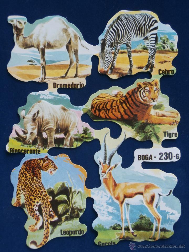 LAMINA CROMOS TROQUELADOS BOGA-230. ANIMALES SALVAJES (Coleccionismo - Cromos y Álbumes - Cromos Troquelados)