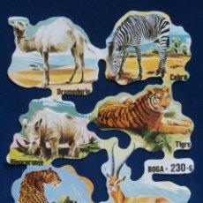 Coleccionismo Cromos troquelados antiguos: LAMINA CROMOS TROQUELADOS BOGA-230. ANIMALES SALVAJES. Lote 43852837