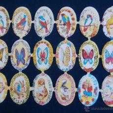 Coleccionismo Cromos troquelados antiguos: LAMINA CROMOS TROQUELADOS ESPAÑOLES FHER ( FB ),ANIMALES EN CIRCULOS. Lote 195517813