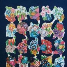 Coleccionismo Cromos troquelados antiguos: LAMINA CROMOS TROQUELADOS ESPAÑOLES FHER ( FB ),JARRONES FLORES. Lote 245722080