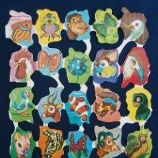 Coleccionismo Cromos troquelados antiguos: LAMINA CROMOS TROQUELADOS ESPAÑOLES FHER ( FB ),ANIMALES. Lote 245721505
