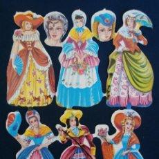 Coleccionismo Cromos troquelados antiguos: LAMINA CROMOS TROQUELADOS ESPAÑOLES FHER ( FB ), SEÑORITAS CON TRAJES DE EPOCA 27. Lote 143096502
