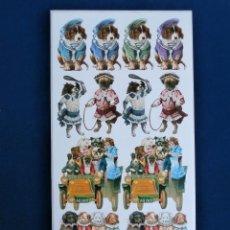 Coleccionismo Cromos troquelados antiguos: LAMINA CROMOS TROQUELADOS ADHESIVOS P-56 PRECIOSAS. Lote 44142190