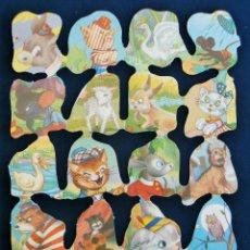 Coleccionismo Cromos troquelados antiguos: LAMINA CROMOS TROQUELADOS ESPAÑOLES FHER ( FB ),PERSONAJES DE CUENTOS 43. Lote 143096132