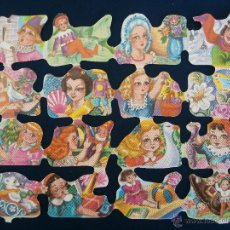 Coleccionismo Cromos troquelados antiguos: LAMINA CROMOS TROQUELADOS ESPAÑOLES FHER ( FB ), SEÑORITAS. Lote 245721985