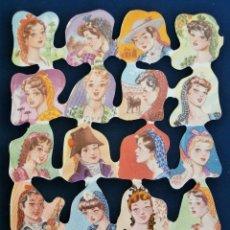 Coleccionismo Cromos troquelados antiguos: LAMINA CROMOS TROQUELADOS ESPAÑOLES FHER ( FB ),REGIONALES. Lote 245721840