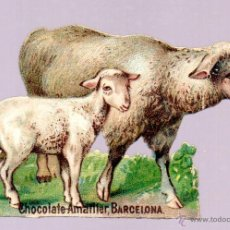 Coleccionismo Cromos troquelados antiguos: CHOCOLATES AMATLLER. CROMO ANTIGUO SIGLO XIX TROQUELADO. BARCELONA. Lote 44306480