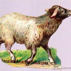 Coleccionismo Cromos troquelados antiguos: CHOCOLATES AMATLLER. CROMO ANTIGUO SIGLO XIX TROQUELADO. BARCELONA. Lote 44306489