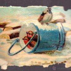 Coleccionismo Cromos troquelados antiguos: CHOCOLATE AMATLLER CAFES Y TES, CROMO SIGLO XIX, TROQUELADO. Lote 44318752
