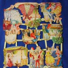 Coleccionismo Cromos troquelados antiguos: LAMINA CROMOS TROQUELADOS EF- 7254.ESCENAS VICTORIANAS. BRILLO Y RELIEVE.. Lote 98404698
