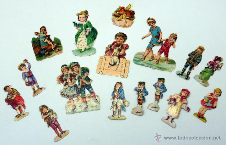 16 Cromos Troquelados Ninos Juegos Infantiles P Comprar Cromos