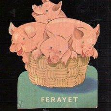 Coleccionismo Cromos troquelados antiguos: PUBLICIDAD DE FARMACIA TROQUELADA. FERAYET. Lote 47186546