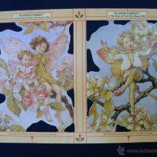 Coleccionismo Cromos troquelados antiguos: LAMINA CROMOS TROQUELADOS MLP- 1898. HADAS. RELIEVE Y BRILLO. Lote 143096060