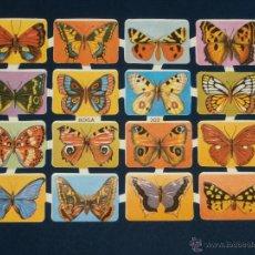 Coleccionismo Cromos troquelados antiguos: LAMINA CROMOS TROQUELADOS BOGA-202. MARIPOSAS. RELIEVE BRILLO. Lote 206946151