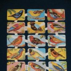 Coleccionismo Cromos troquelados antiguos: LAMINA CROMOS TROQUELADOS BOGA-210. PAJAROS. RELIEVE BRILLO. Lote 206946188