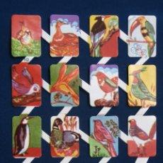 Colecionismo Cromos recortados antigos: LAMINA CROMOS TROQUELADOS ESPAÑOLES ZULIA-10. PAJAROS. Lote 169463210