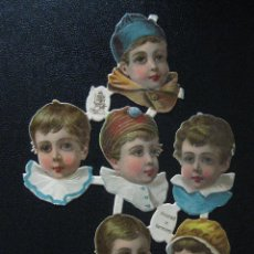 Coleccionismo Cromos troquelados antiguos: CROMOS ALEMANES TROQUELADOS NIÑOS. AÑO 1895. RELIEVE. TUCKS & SONS DIBUJADO EN UK, IMPRESO ALEMAN. Lote 48870206