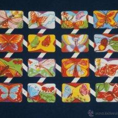 Coleccionismo Cromos troquelados antiguos: LAMINA CROMOS TROQUELADOS ESPAÑOLES ZULIA-1.MARIPOSAS. Lote 294488168