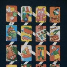 Coleccionismo Cromos troquelados antiguos: LAMINA CROMOS TROQUELADOS ESPAÑOLES ZULIA-8. JUGUETES DIVERSOS. Lote 194623411