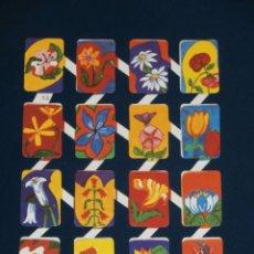 Colecionismo Cromos recortados antigos: LAMINA CROMOS TROQUELADOS ESPAÑOLES ZULIA-13. FLORES. Lote 213643840