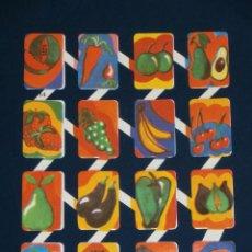 Coleccionismo Cromos troquelados antiguos: LAMINA CROMOS TROQUELADOS ESPAÑOLES ZULIA-14. FRUTAS. Lote 194623607