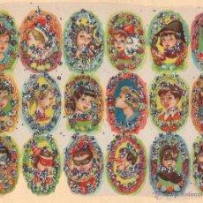 Coleccionismo Cromos troquelados antiguos: ANTIGUA LÁMINA DE CROMOS ESTRELLITAS Nº 47 ARGENTINA DEL AÑO 1973. Lote 49375290