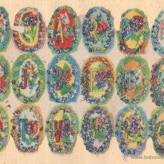 Coleccionismo Cromos troquelados antiguos: ANTIGUA LÁMINA DE CROMOS ESTRELLITAS Nº 4 ARGENTINA DEL AÑO 1973. Lote 49375857