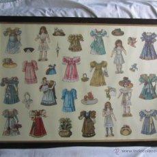 Coleccionismo Cromos troquelados antiguos: COLECCIÓN DE CROMOS TROQUELADOS ENMARCADA CHOCOLATES JUNCOSA FERNANDO VII 10 BARCELONA. Lote 50196193