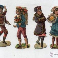 Coleccionismo Cromos troquelados antiguos: CROMOS TROQUELADOS. LOTE DE 6 (8,5) SIGLO XIX.. Lote 50257620